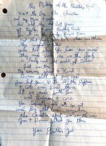 ©2015, Mary Ellen Merrigan, Brother's Poem