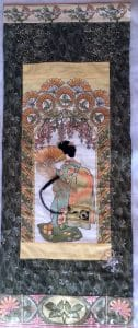 ©2015 Mary Ellen Merrigan, Beaded Dragonfly and Sashiko embroidery