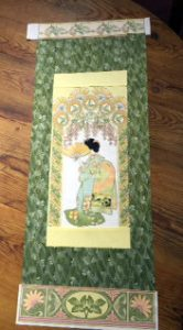 ©2015 Mary Ellen Merrigan, layout prior to sewing Dragonfly scroll