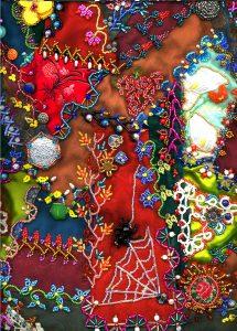 ©2015 Nancy Eha, detail of crazy quilt
