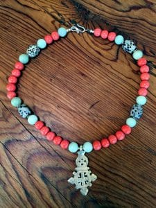 featured artist beaded necklace - chinese glass beads