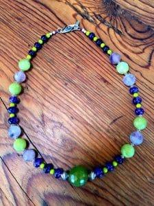 featured artist beaded necklace - fluorite