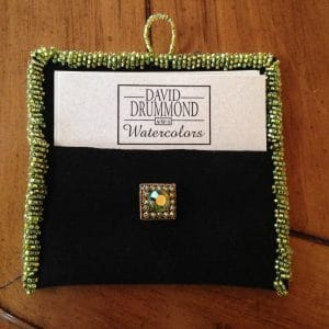 seed bead design business card holder, david drummond watercolors