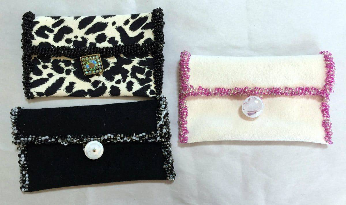 Seed Bead Design for Business Card Holders - Mary Ellen Beads
