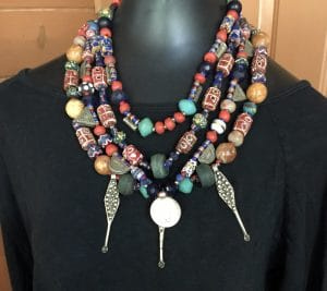 This is the combo treasure necklace, Tribal Treasure Trove from Mary Ellen Beads.