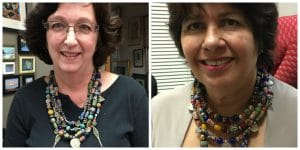 These participants completed their treasure necklaces in class.