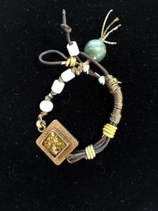 This BoHo Fun Bracelet is part of the resin jewelry collection from Mary Ellen Beads Albuquerque
