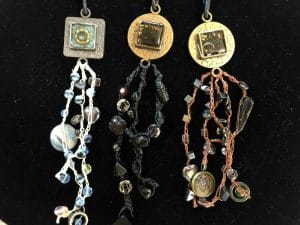 These charming dangles are part of the resin jewelry collection created by Mary Ellen Beads Albuquerque.