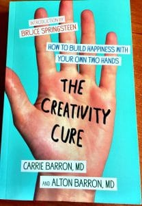 """Mary Ellen Beads Albuquerque writes about """"The Creativity Cure"""" saying this book encourages hand-stitch and craft."""