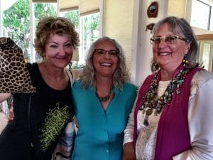 These friends came to see my bead jewelry and the display for Mary Ellen Beads Albuquerque during the Sandia Heights Artists Studio Tour.