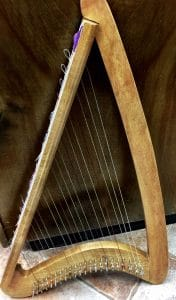 This is the mini harp, the subject of beyond brainstorming by Mary Ellen Beads, Albuquerque.