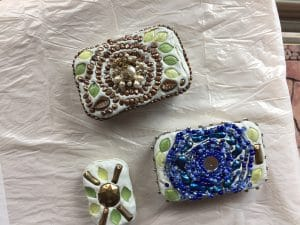 These altoids are the beaded clarinet experiment's predecessor by Mary Ellen Merrigan of Mary Ellen Beads Albuquerque.