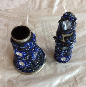 This is the top and bottom of the beaded clarinet by Mary Ellen Beads Albuquerque.