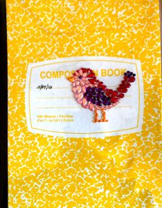 This is the current composition book for Mary Ellen Beads, Albuquerque.