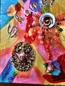 Shine, a mixed media project, was Mary Ellen Beads' theme for one year.