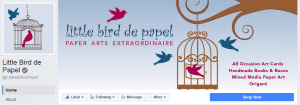 Mary Ellen Beads emphasizes consistency is one of the signs of visibility as shown by this Facebook Page for Little Bird de Papel.