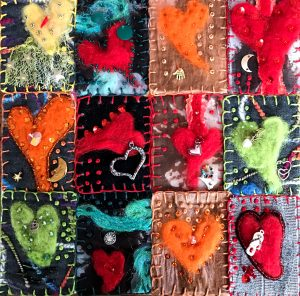 "The picture here entitled ""heART"" depicts the theme for a Year for Mary Ellen Beads Albuquerque."