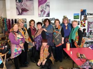 Mary Ellen Beads Albuquerque participated in a Kantha Quilt class with these ladies.