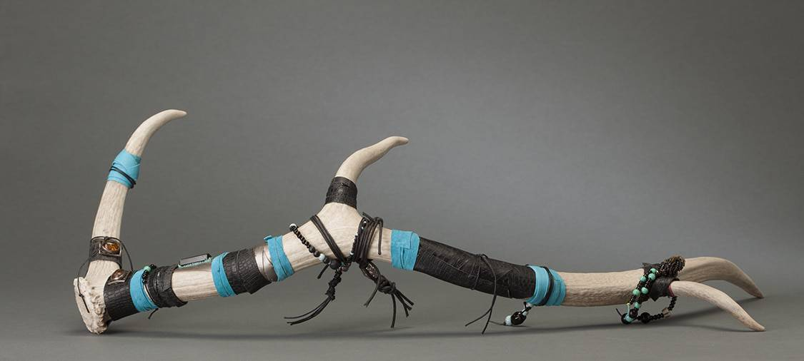 This is a picture of the very first beaded antlers from Mary Ellen Beads Albuquerque.