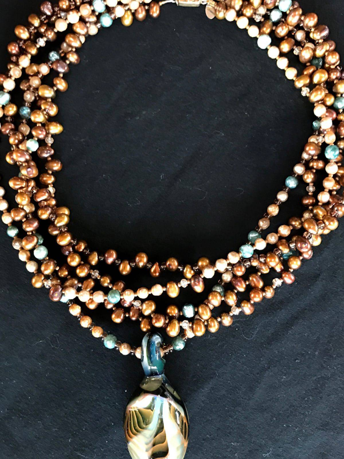 """This five-strand necklace from Mary Ellen Beads Albuquerque screams, """"Party Pretty!"""""""