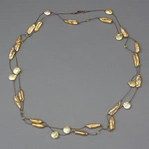 Mary Ellen Beads Albuquerque will teach her knotted necklace called Barely There at Art Unravelled.
