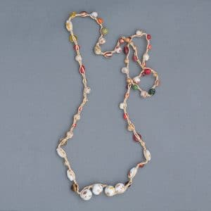 Mary Ellen Beads Albuquerque will teach her crochet necklace at Art Unravelled .