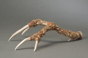 These embellished horns will be for sale as part of Art Unraveled vendor day from Mary Ellen Beads, Albuquerque.