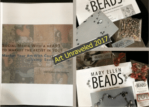 Mary Ellen Merrigan of Mary Ellen Beads is teaching these three classes at Art Unraveled 2017 in Phoenix.