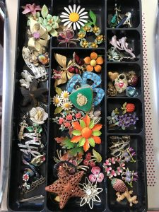 These are the focal elements for the bead mosaic boxes from Mary Ellen Beads Albuquerque.