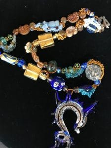 This Lampwork Glass Necklace is part of the Holiday Wonders Jewelry Show by Mary Ellen Beads Albuquerque