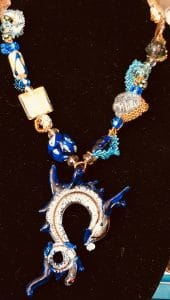 This free-form peyote Necklace by Mary Ellen Beads Albuquerque is entitled Sea Happy.
