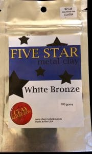 This is the packet Mary Ellen Beads Albuquerque used to make a Five star white bronze clay necklace.