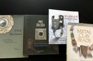 To help with learning bronze metal clay, this is the PMC personal library recommended by Mary Ellen Beads Albuquerque.