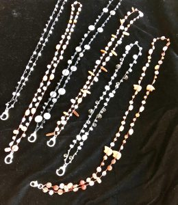 These lanyards were made on a road trip, part of soul juice musings from Mary Ellen Beads Albuquerque.