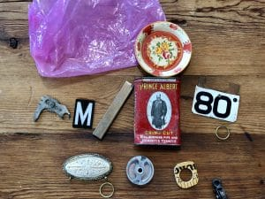 This is the prize pack won by Mary Ellen Beads Albuquerque during assemblage a b c from Leighanna Light at Art Unraveled.