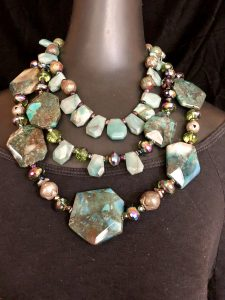 See this bling fever trio at the trunk show from Mary Ellen Beads Albuquerque.